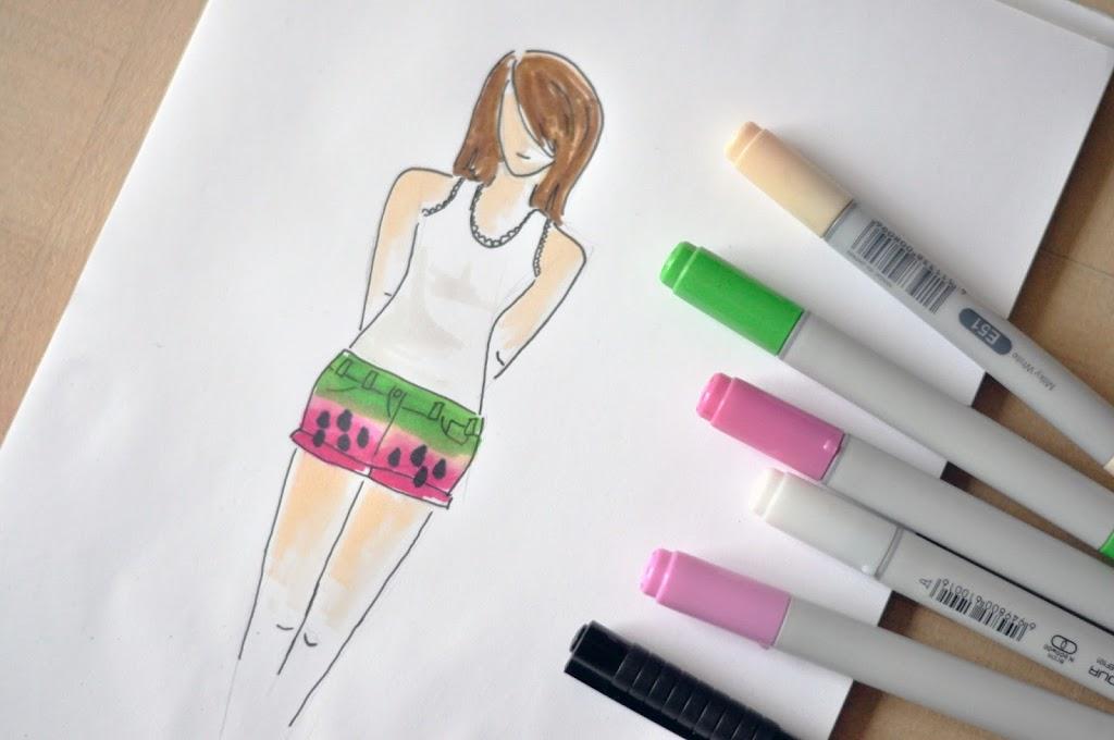 Wassermelonen Shorts