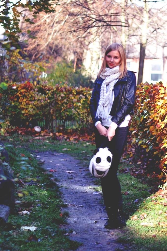 Herbstlook mit Pandatasche
