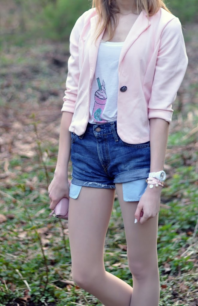 Outfit rosa Blazer
