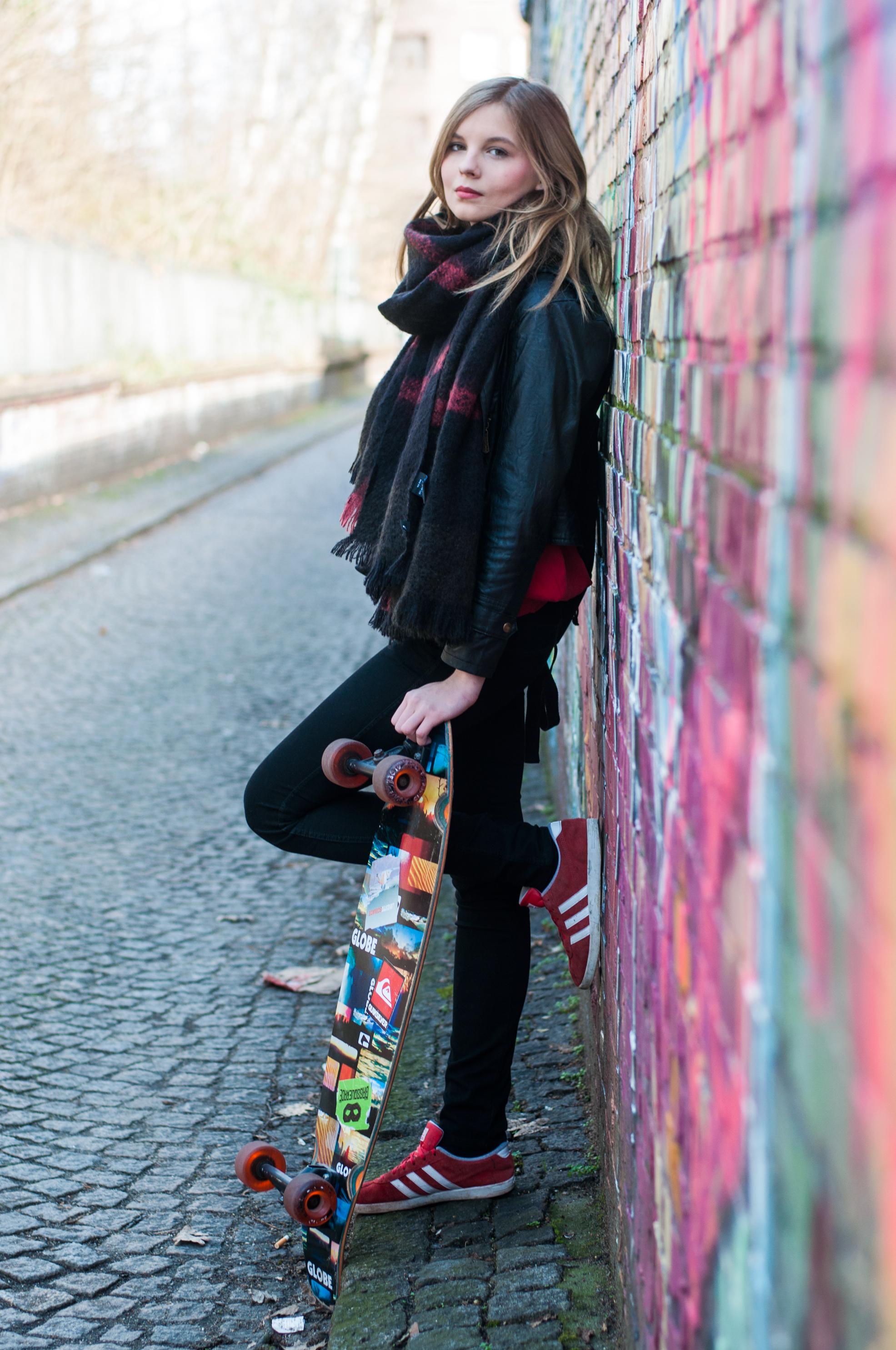 Outfit Longboard fahren