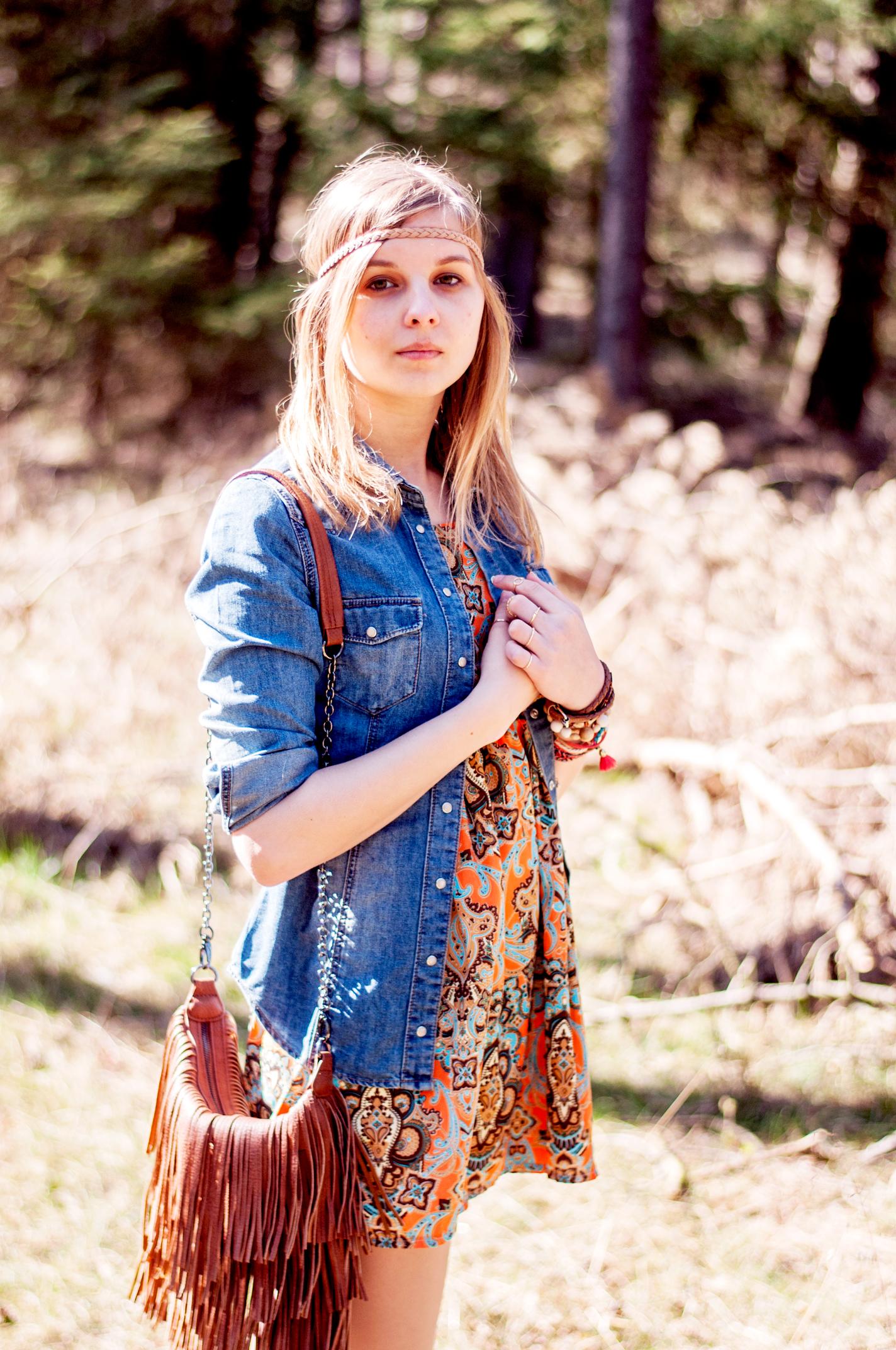 OUTFIT | Boho-Kleid im Cuxhavener Wald