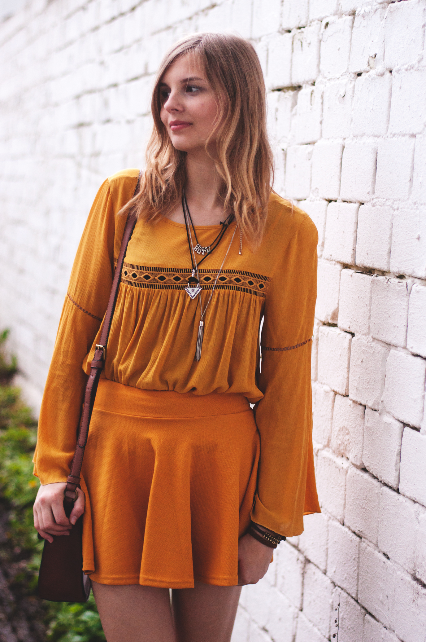 Outfit mit Gladiatorensandalen