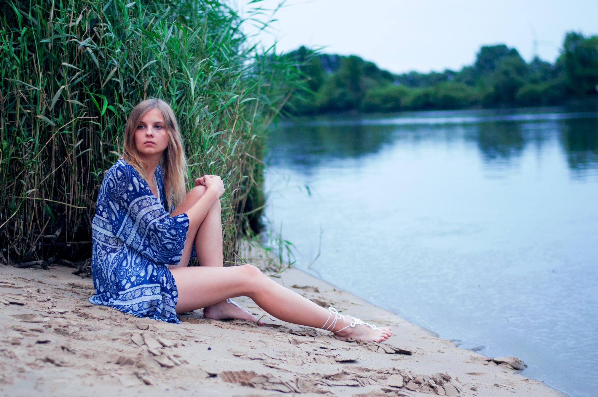 OUTFIT | Strandoutfit mit blauem Kimono
