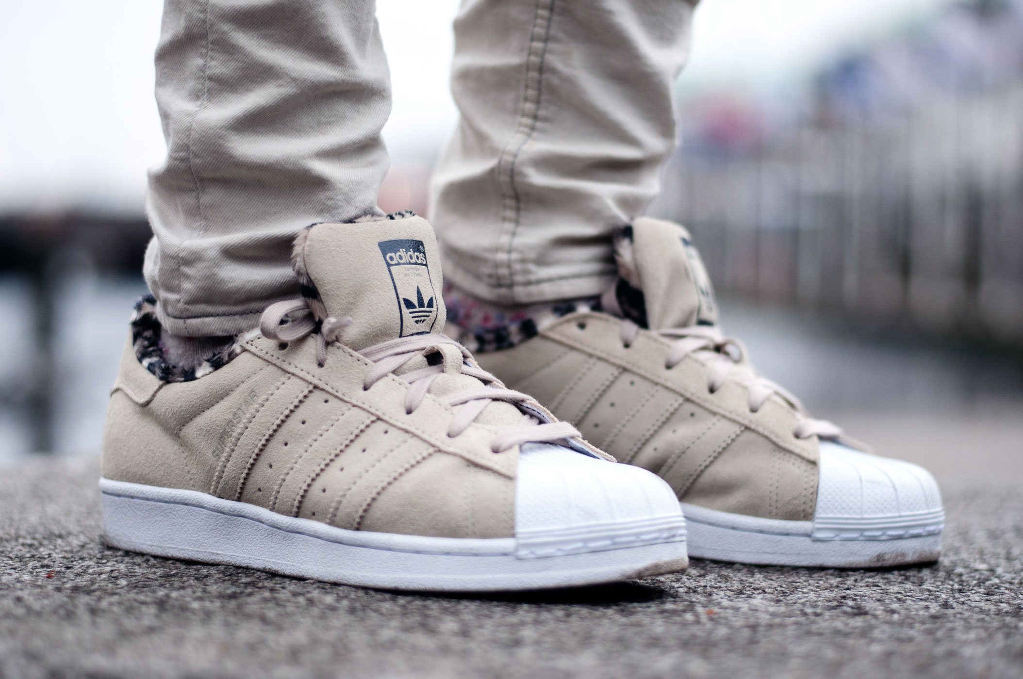 Adidas Superstar Beige Fell