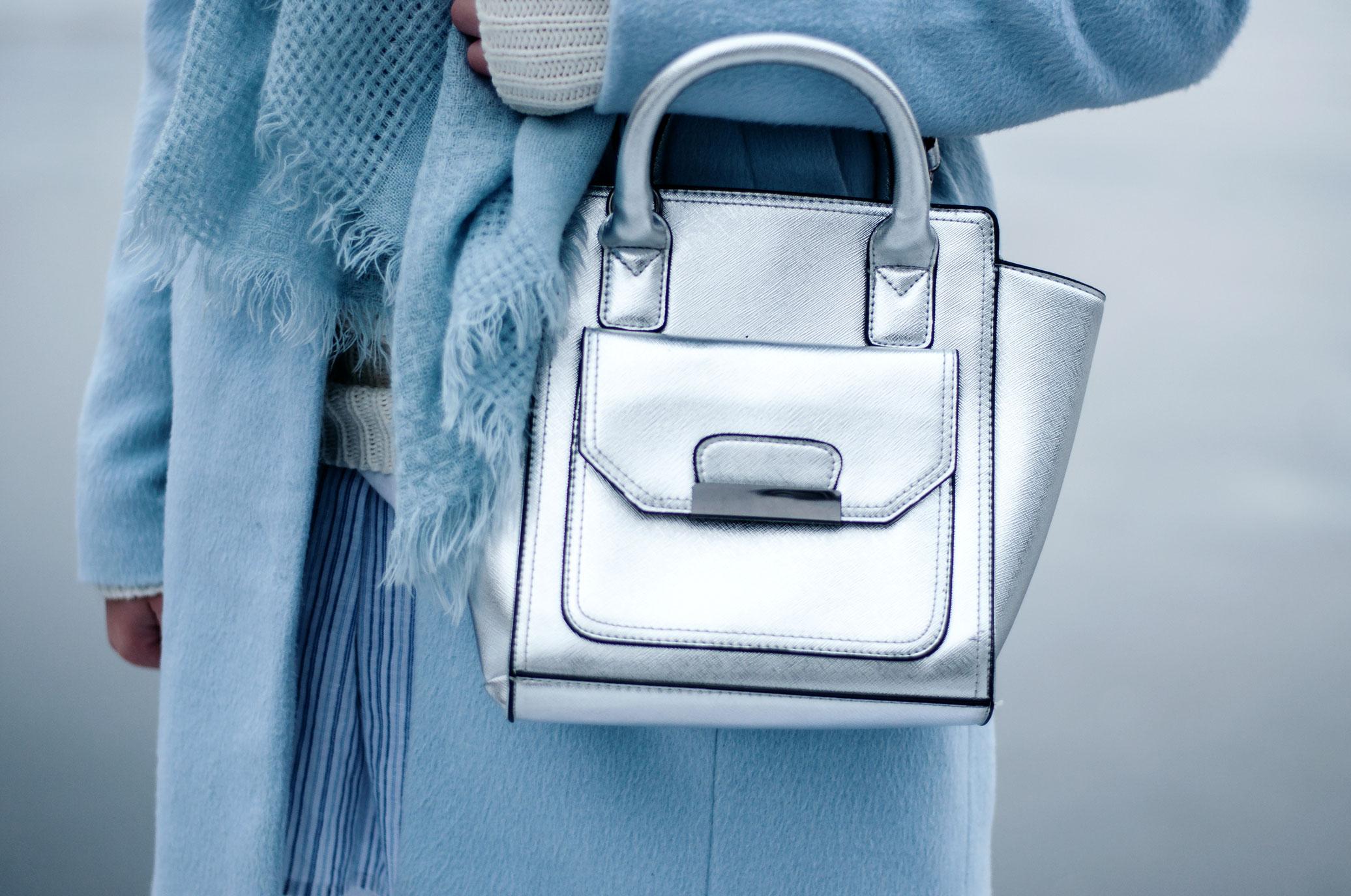 Silber Tasche New Look