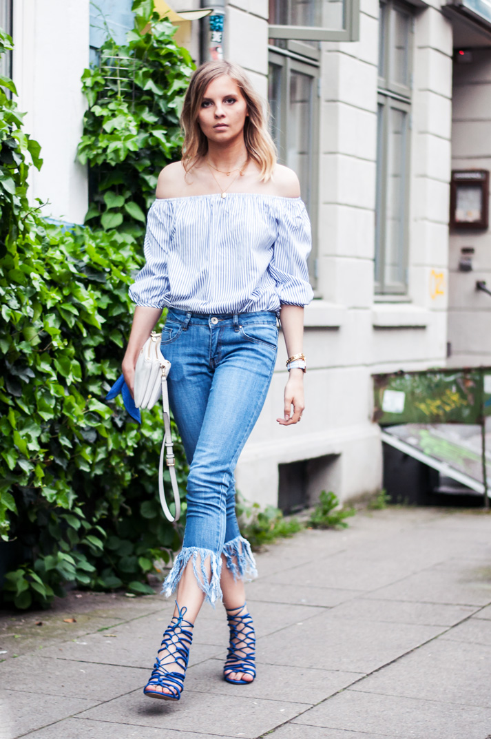 OUTFIT | Ausgefranste Jeans