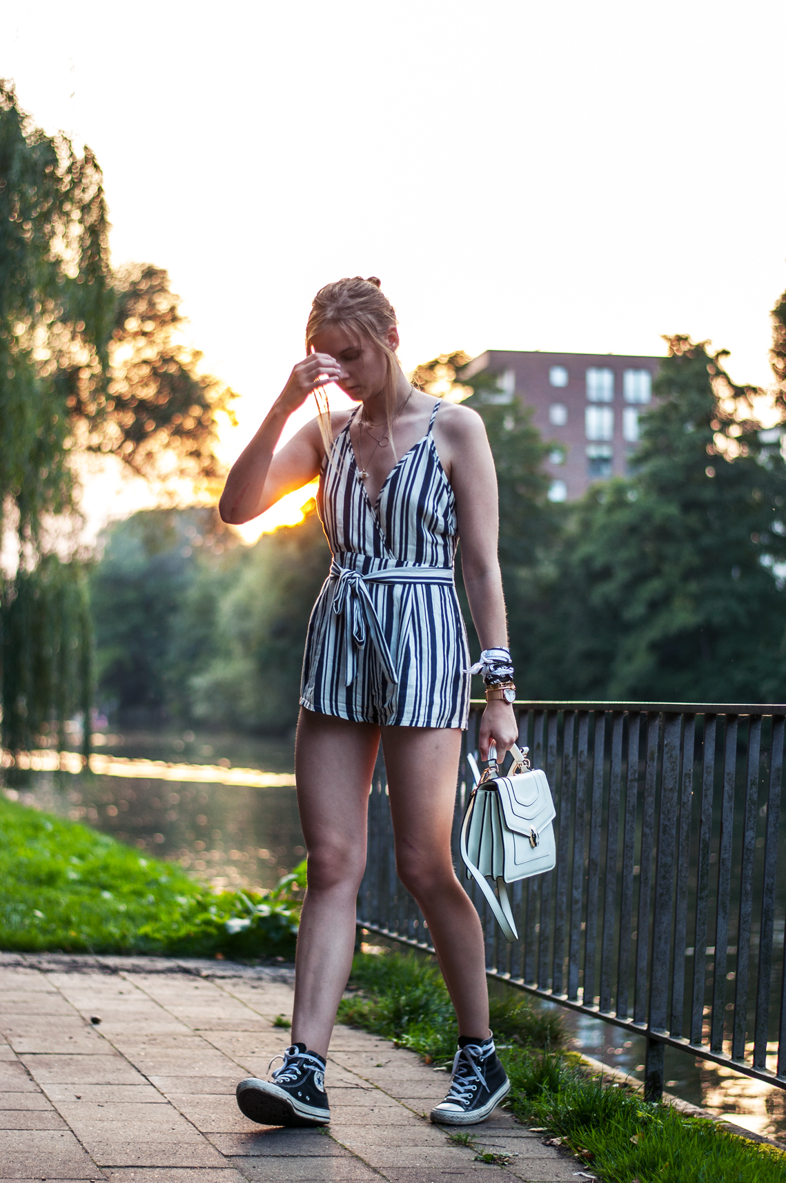 OUTFIT | Gestreifter Playsuit