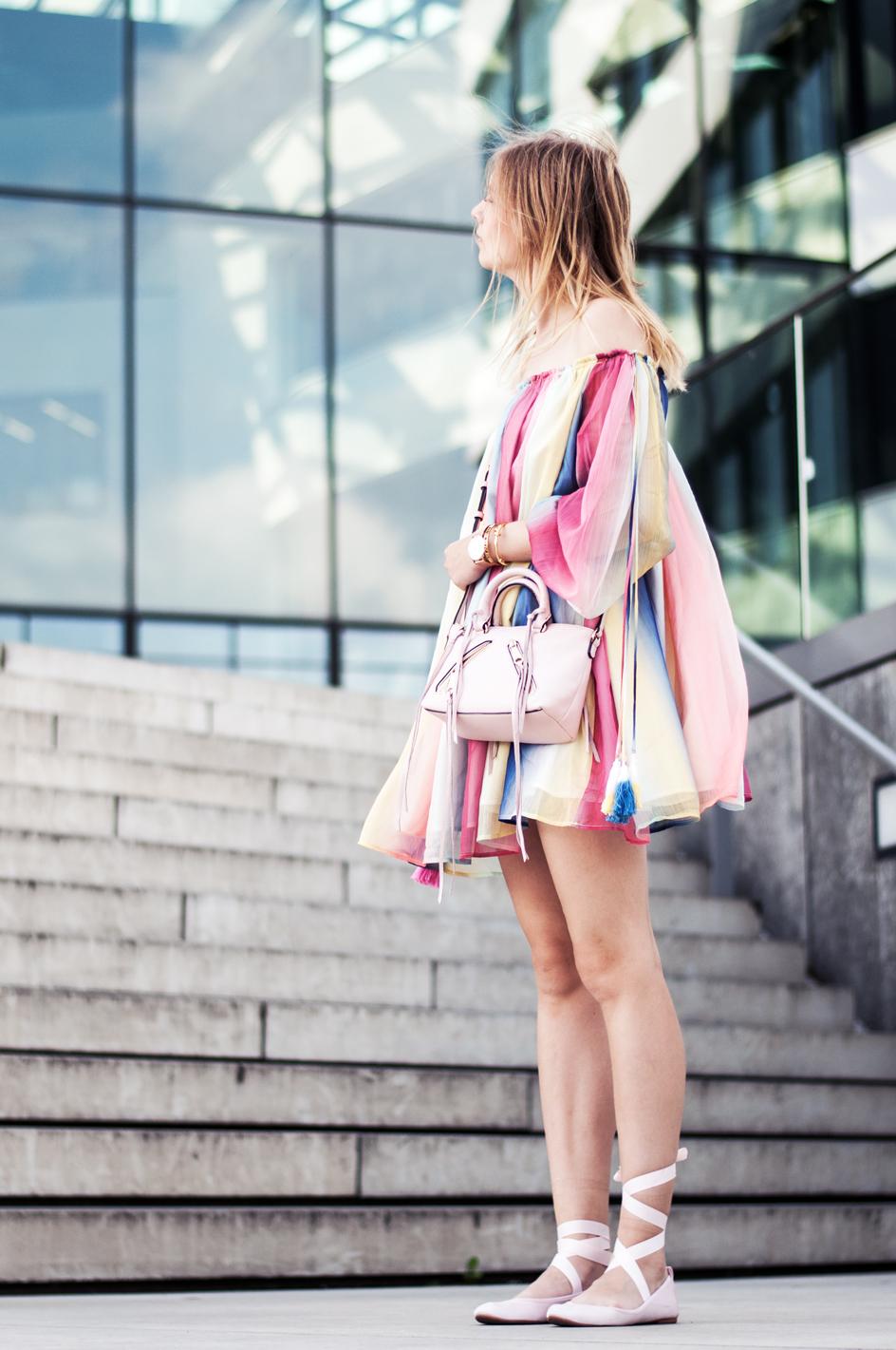 OUTFIT | Regenbogen-Kleid