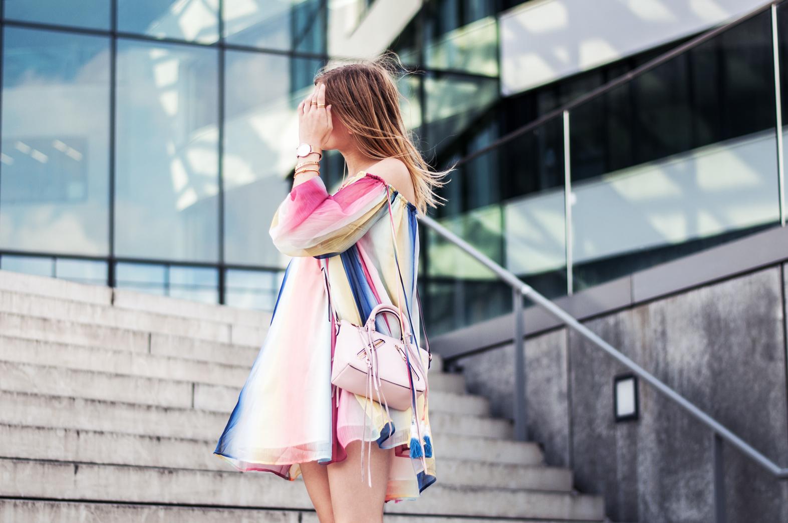 Regenbogen-Kleid Chloé