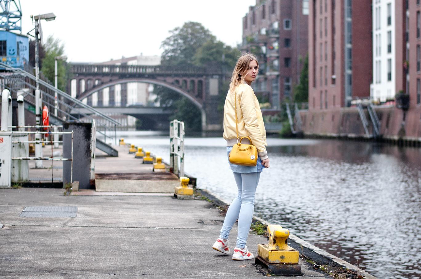 gelbe Bomberjacke Schott