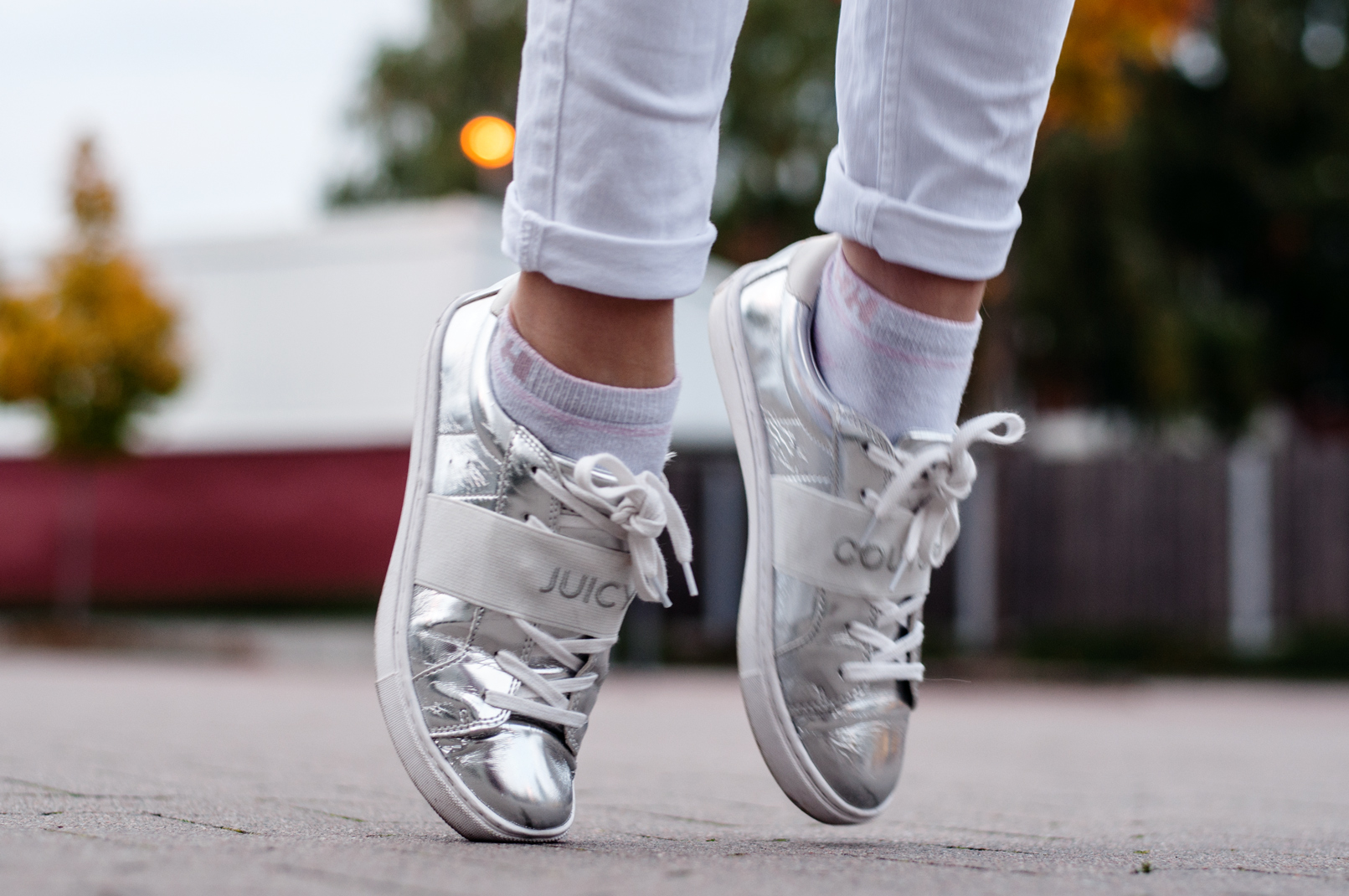 Juicy Couture Sneaker silber