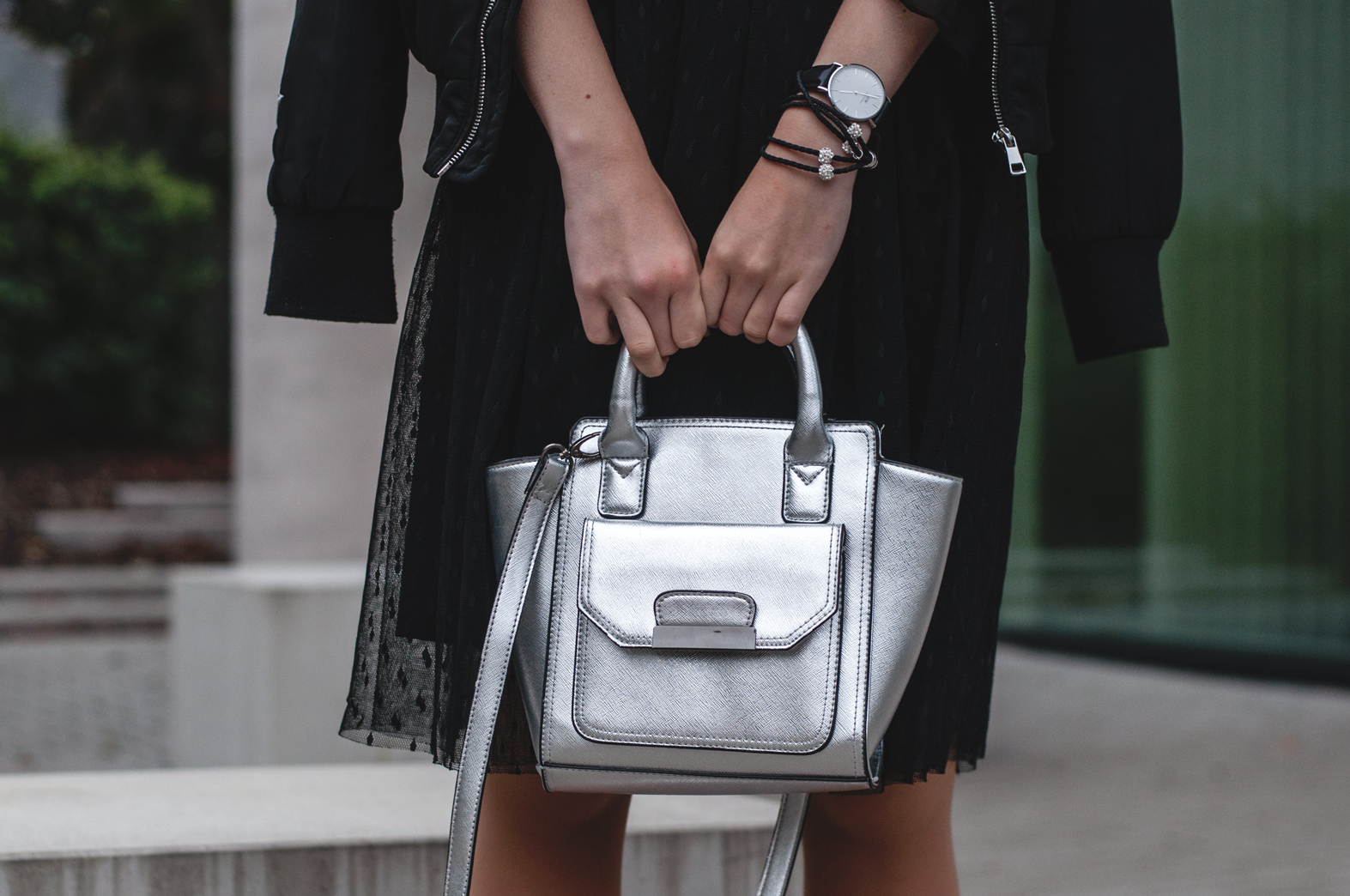 Tasche silber New Look