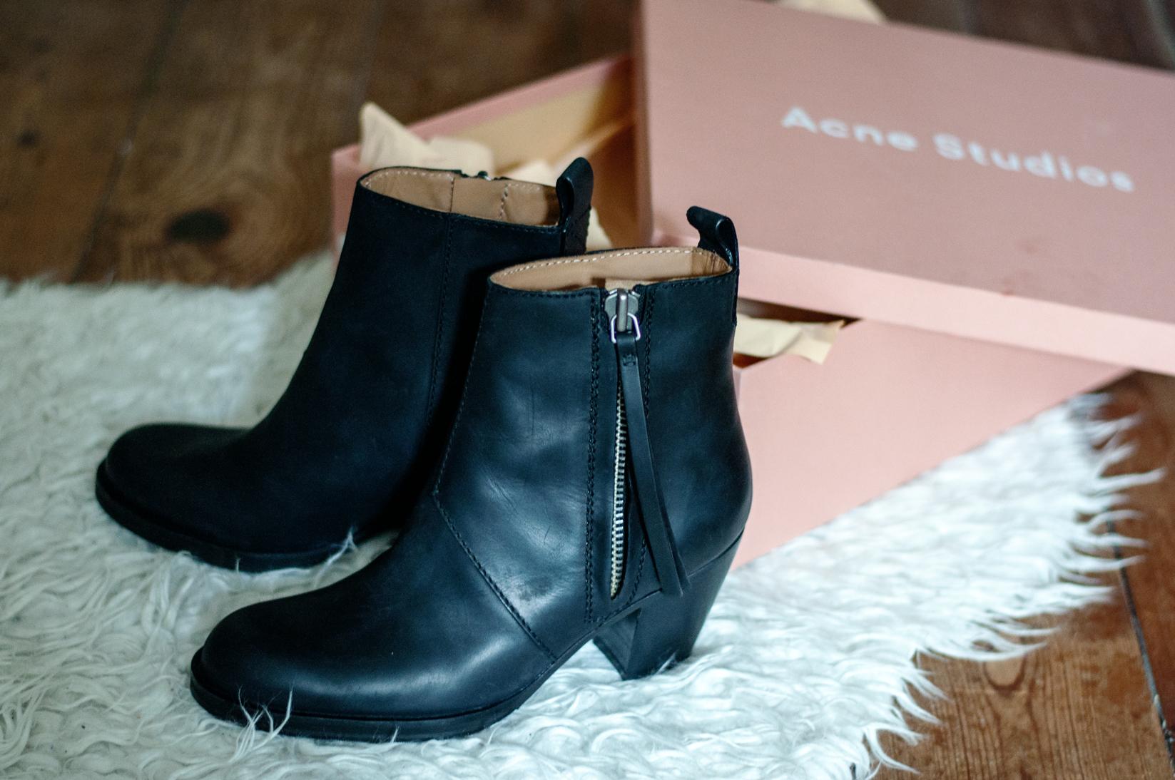 Acne Pistol Boots schwarz