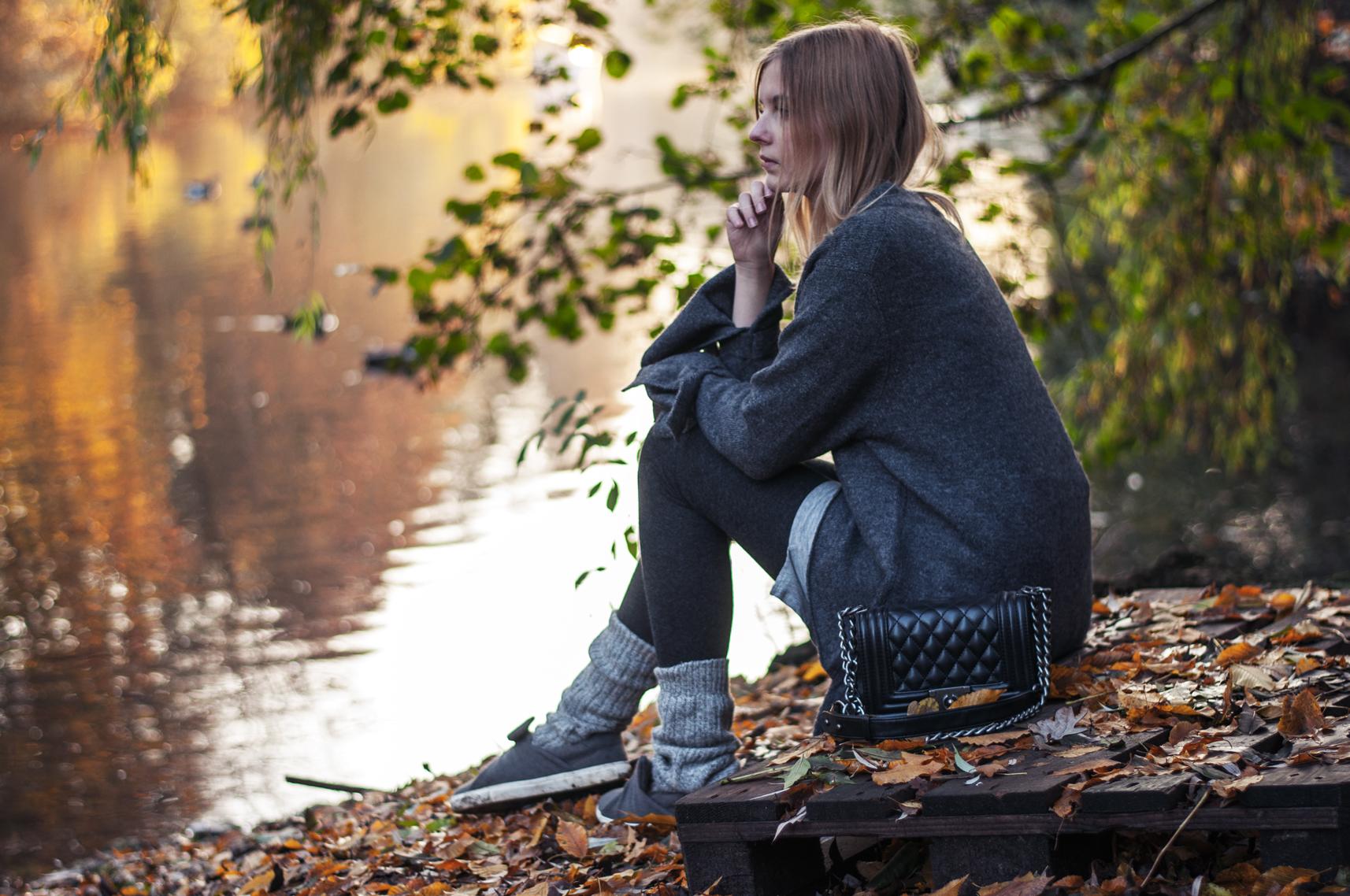 Herbsttag Schleifenpullover