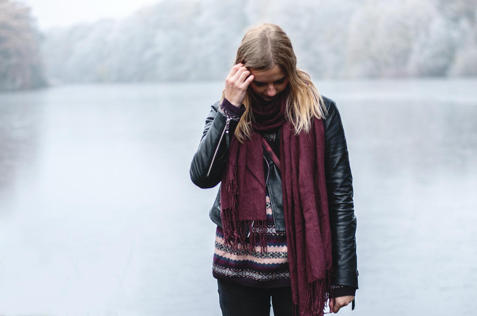 Hipster Frau im Winter