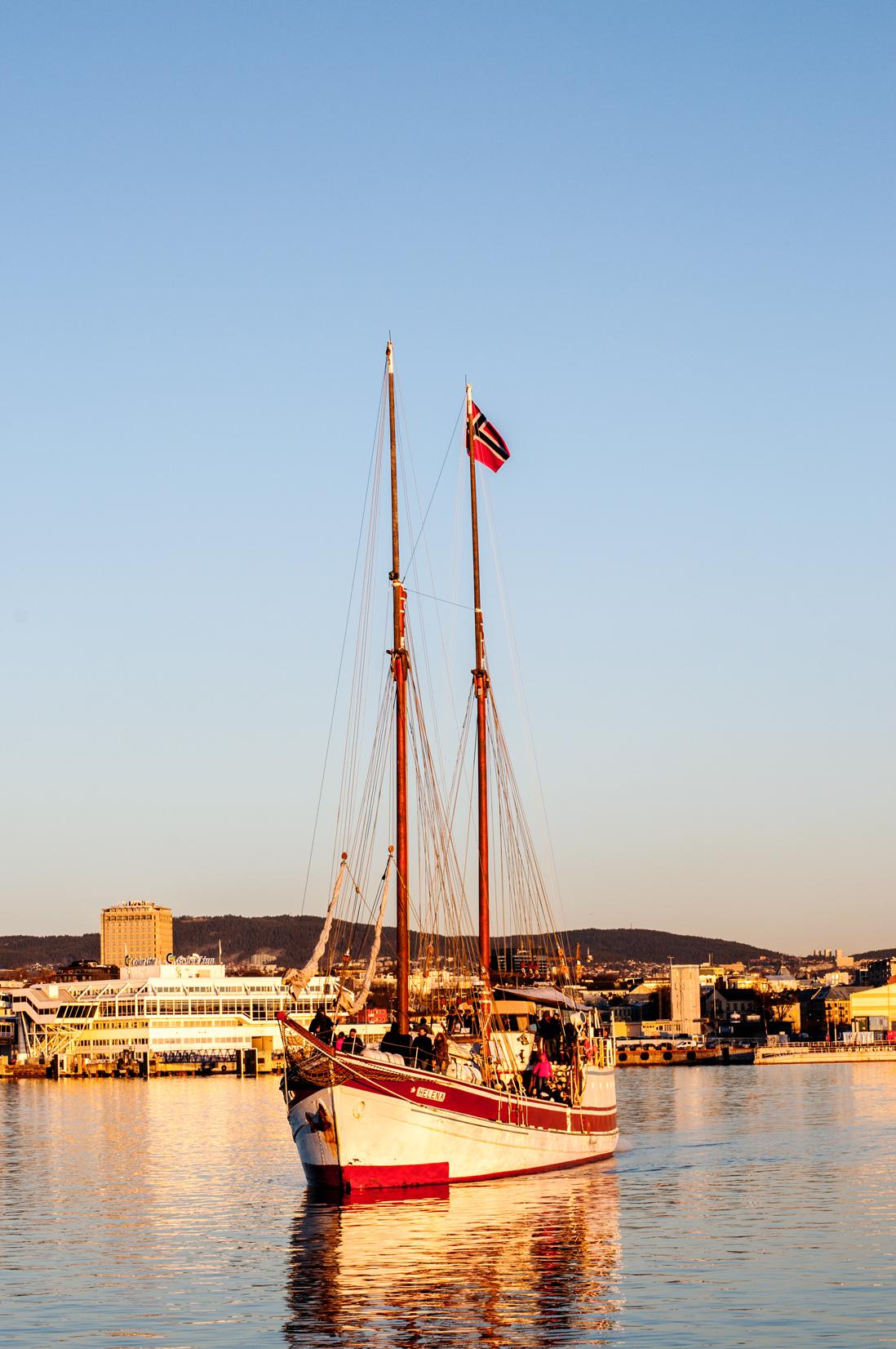Silvester in Oslo Schiff