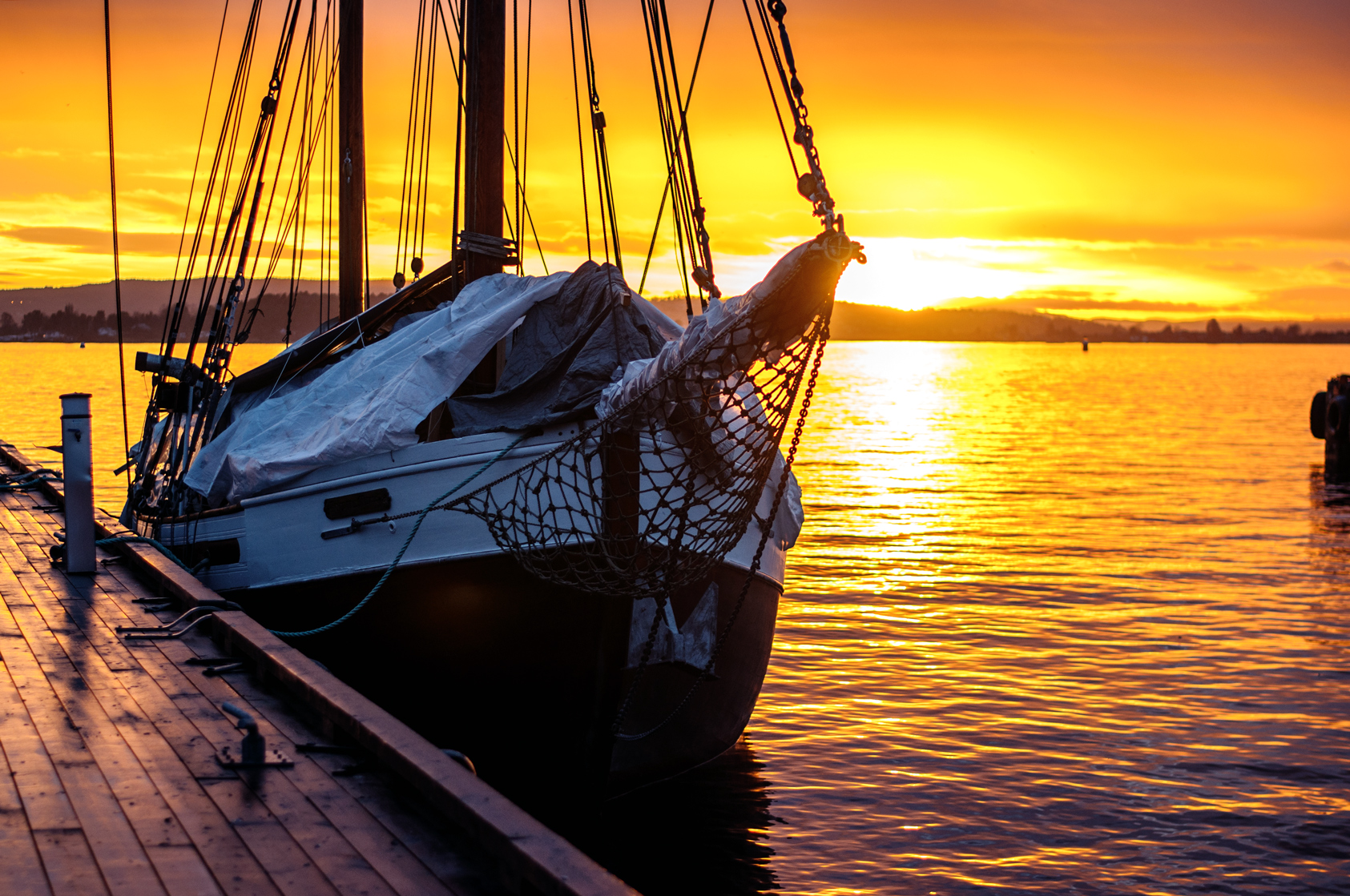 Oslo Hafen Sonnenuntergang