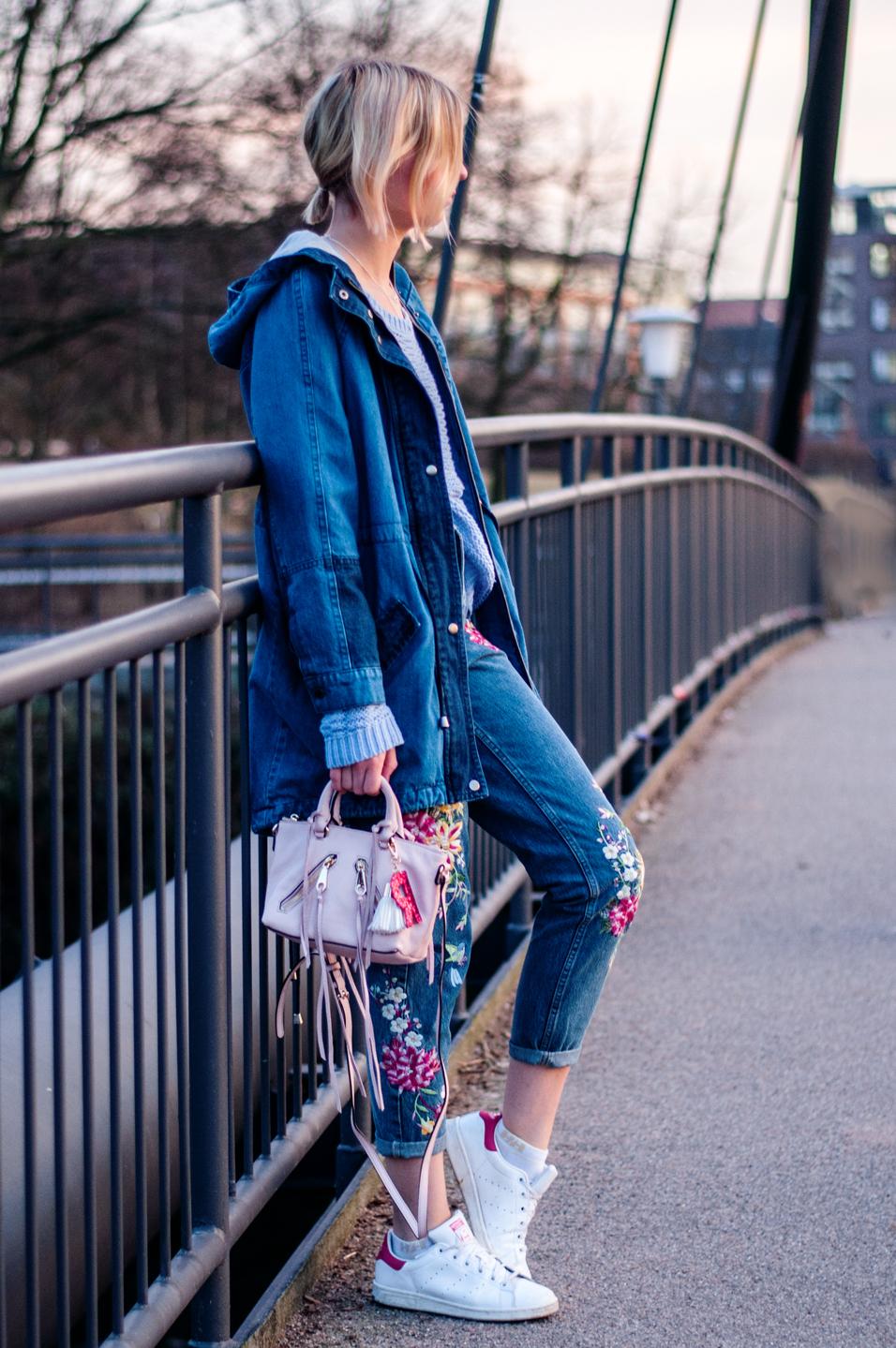 rosa Tasche kombinieren