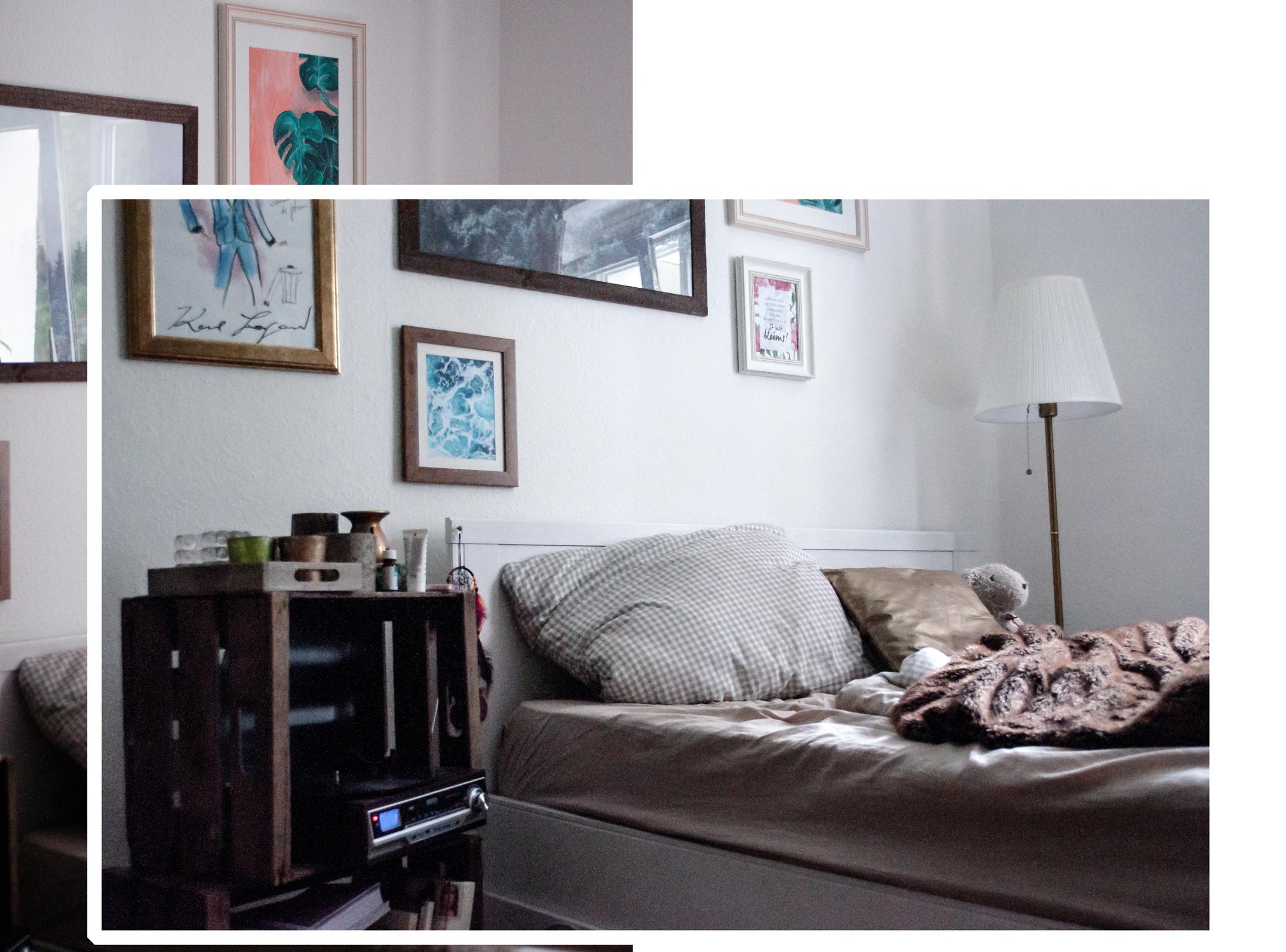 Roomtour Bett WG-Zimmer