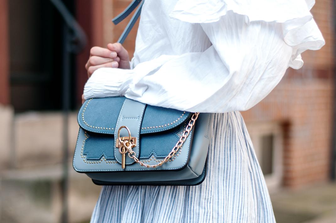 blaue Tasche sheIn Chloe Alexa Chloe Faye