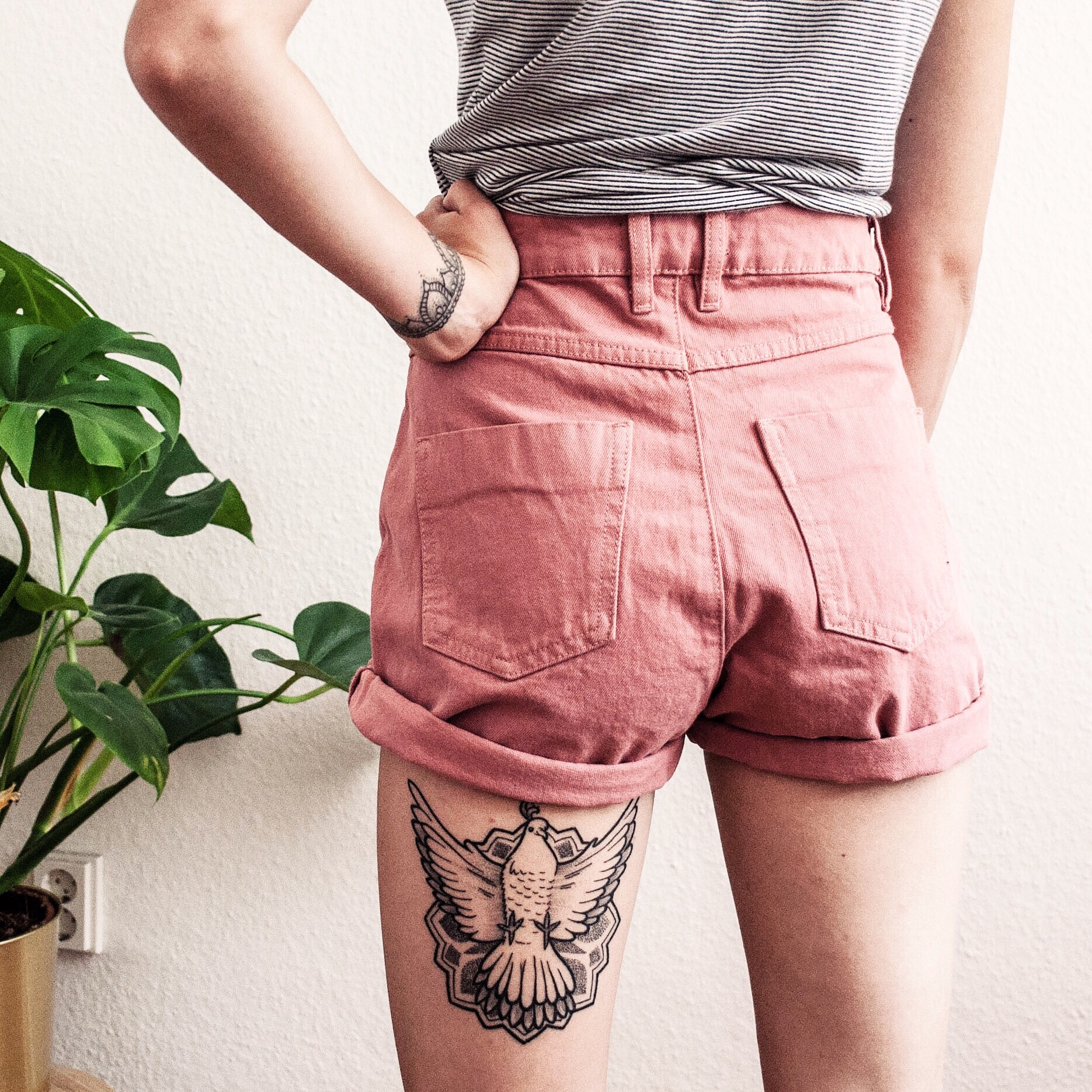 Tattoo Taube Mandala