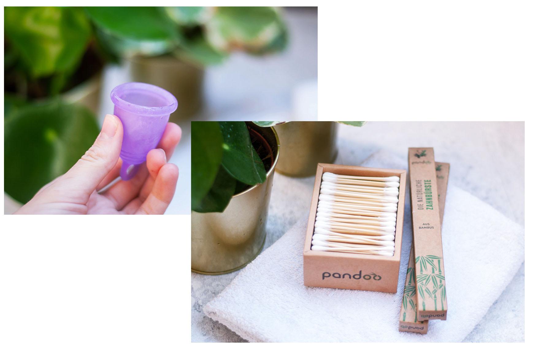 Wattestäbchen Bambus Menstruationstasse